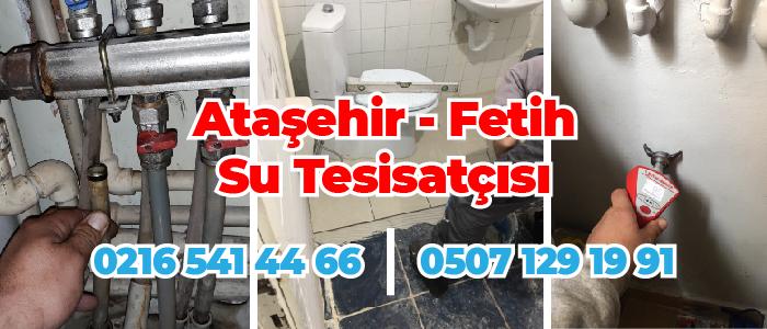 Ataşehir Fetih Su Tesisatçısı